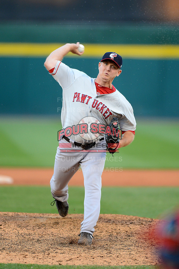 Pawtucket Red Sox pitcher Brock Huntzinger (31) during a game against the Buffalo Bisons on August 4, 2013 at Coca-Cola Field in Buffalo, New York.  Pawtucket defeated Buffalo 8-1.  (Mike Janes/Four Seam Images)