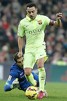 Atletic de Bilbao's Gorka Iraizoz (l) and FC Barcelona's Leo Messi during La Liga match.February 8,2015. (ALTERPHOTOS/Acero) /NORTEphoto.com