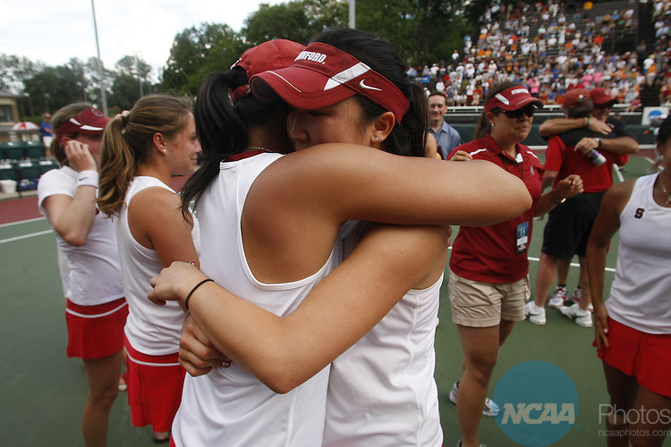25 MAY 2010:  Stanford University takes on the University of Florida during the Division I Women's Tennis Championship held at the Dan Magill Tennis Complex on the University of Georgia campus in Athens, GA.  Jamie Schwaberow /NCAA Photos