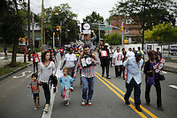 New York, USA. 23 August 2014. Thousands attend a rally against police brutality in Staten Island.  Eduardo Munoz Alvarez/VIEWpress
