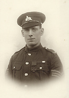 BNPS.co.uk (01202 558833)<br /> Pic:  Spink&Son/BNPS<br /> <br /> PICTURED: Lance Sergeant Arthur Evans wearing his VC medal<br /> <br /> The Victoria Cross awarded to a hero sergeant who swam across a river and single-handedly took out a German enemy machine gun post has emerged for sale for £150,000.<br /> <br /> Lance Sergeant Arthur Evans crawled up behind the post and shot the sentry and another man, before making four more surrender.<br /> <br /> His exploits, which saw him receive the highest honour for gallantry, were all the more remarkable as ten months earlier he was gassed in the trenches of the Western Front.<br /> <br /> Sgt Evans, of 6th Battalion, Lincolnshire Regiment, also received a prestigious Distinguished Conduct Medal after storming another machine gun post in a separate raid. On that occasion, he killed 10 Germans and took one survivor who provided 'valuable information'.<br /> <br /> His medal group, as well as a gold pocket watch he was presented on his return to Britain following the conflict, are being sold by his family with London based auction house Spink & Son.