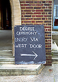 Makeshift sign, Graduation Celebrations at Guildford Cathedral.