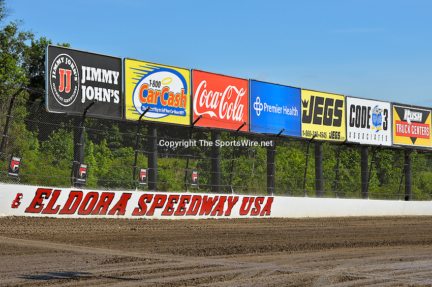 Jun 5, 2014; 3:50:55 PM; Rossburg, OH., USA; The 20th annual Dirt Late Model Dream XX in an expanded format for Eldora's $100,000-to-win race includes two nights of double features, 567 laps of action  Mandatory Credit:(thesportswire.net)
