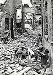 Japanese Marines advance among ruins of Shanghai town in October, 1937, China. That is one of the Battle of Shanghai which was fought between the National Revolutionary Army of the Republic of China and the Imperial Japanese Army of the Empire of Japan during the Second Sino-Japanese War. (Photo by Kingendai PL/AFLO)