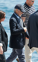 Steven Spielbierg & Family lat the Eden Roc Hotel during the 66th Cannes Film Festival