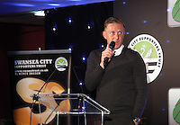 Pictured: Manager Garry Monk Wednesday 20 May 2015<br /> Re: Swansea City FC Awards Dinner at the Liberty Stadium, south Wales, UK