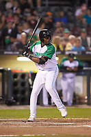 Montrell Marshall (26) of the Dayton Dragons at bat against the Bowling Green Hot Rods at Fifth Third Field on June 8, 2018 in Dayton, Ohio. The Hot Rods defeated the Dragons 11-4.  (Brian Westerholt/Four Seam Images)