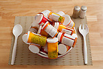 Prescription medicines in salad bowls