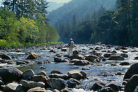 Fly fishing on the Merced River<br />
