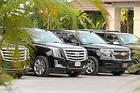 151204 Limos awaiting the Royalty Friday's Second Round of The Hero World Challenge, at The Albany Golf Club in New Providence, Nassau, Bahamas.(photo credit : kenneth e. dennis/kendennisphoto.com)