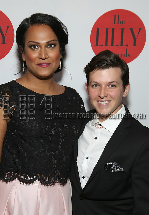 Aneesh Sheth and Jax Jackson attends The Lilly Awards Broadway Cabaret at the Cutting Room on October 17, 2016 in New York City.