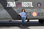 Spanish actress Ruth Gabriel attends 'Zona Hostil' photocall at the FAMET Military Base in Colmenar Viejo, Spain. March 06, 2017. (ALTERPHOTOS / Rodrigo Jimenez)