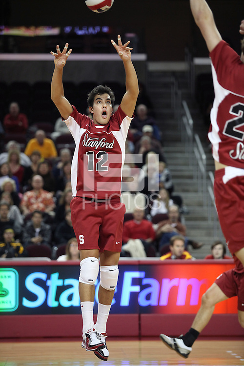 LOS ANGELES, CA - JANUARY 23:  Kawika Shoji of the Stanford Cardinal during Stanford's 3-0 loss to the USC Trojans on January 23, 2009 at the Galen Center in Los Angeles, California.