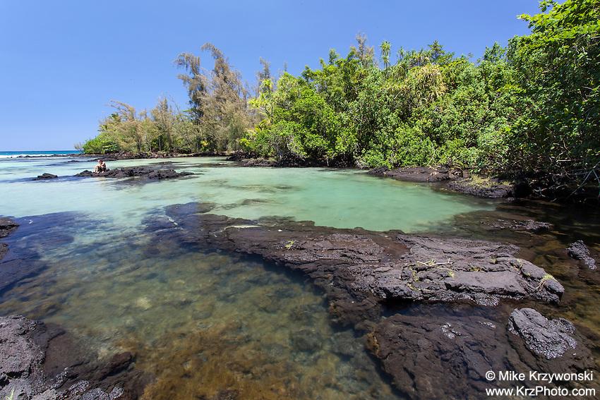 Tide pools at Richardson Beach Park, Hilo, Big Island, Hawaii