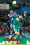 Getafe's Wanderson (l) and Sociedad Deportiva Eibar's Gonzalo Escalante during La Liga match. March 18,2016. (ALTERPHOTOS/Acero)