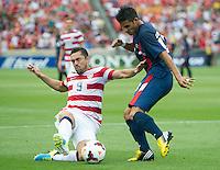 SANDY, UT - July 13, 2013: USA vs Cuba match at Rio Tinto Stadium in Sandy, Utah. Final score USA 4, Cuba 1.