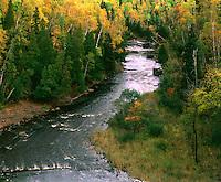 Baptism River, North Shore of Lake Superior, Tettegouche State Park, MN. Tettegouche State Park, Minnesota.