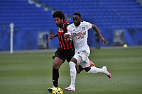 4th July 2020; Lyon, France; French League 1 friendly due to the Covid-19 pandemic forced league ending;  Moussa Dembele (lyon) outpaces Dante (nice)