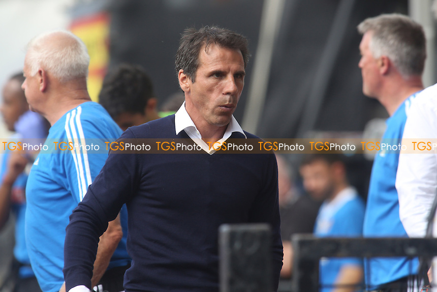 Watford manager, Gianfranco Zola - Watford vs Nottingham Forest - Sky Bet Championship Football at Vicarage Road Stadium, Watford, Hertfordshire - 25/08/13 - MANDATORY CREDIT: Paul Dennis/TGSPHOTO - Self billing applies where appropriate - 0845 094 6026 - contact@tgsphoto.co.uk - NO UNPAID USE