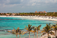 Mexico is home to countless all-inclusive resorts, which dot the Maya Riviera Caribbean coastline from Cancun to Tulum. Shown here, the Barcelo Maya Beach Resort has four hotels, each of them all inclusive.
