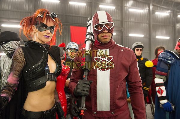 Lindy Booth, Donald Faison<br /> in Kick-Ass 2 (2013) <br /> *Filmstill - Editorial Use Only*<br /> CAP/FB<br /> Image supplied by Capital Pictures