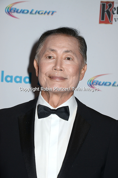 George Takei attends the 25th Annual GLAAD Media Awards at the Waldorf Astoria Hotel in New York City, NY on May 3, 2014.
