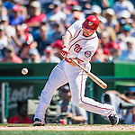 28 August 2016: Washington Nationals infielder Daniel Murphy in action against the Colorado Rockies at Nationals Park in Washington, DC. The Rockies defeated the Nationals 5-3 to take the rubber match of their 3-game series. Mandatory Credit: Ed Wolfstein Photo *** RAW (NEF) Image File Available ***