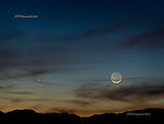 Comet Pan-STARRS over Panamint Mountains, Death Valley, March 12, 2013