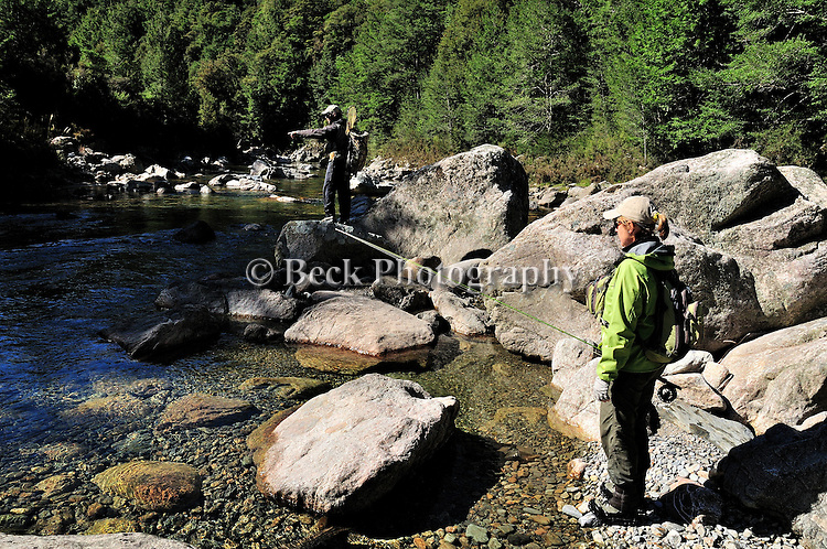Fly in back country fly fishing in the South Island of NZ.
