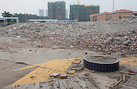 A demolished factory is seen in Dongguan, Guangdong Province, China, 03 March 2015.