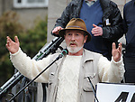 Andy, The man with the hat pictured at the March against household charges. Photo: Colin Bell/pressphotos.ie