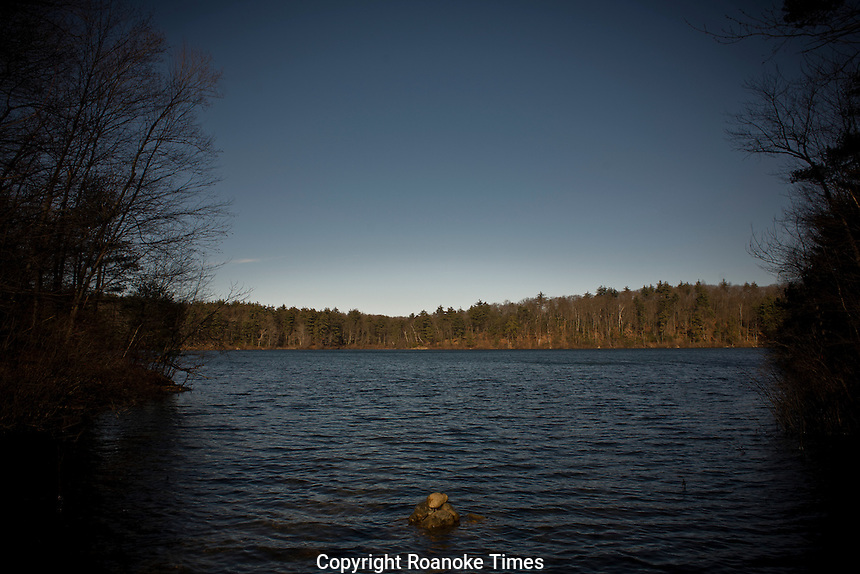 "Walden Pond, where Henry David Thoreau wrote ""Walden"""