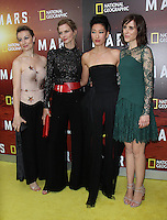 NEW YORK, NY-October 26: Anamaria Marinca, Cosima Shaw, Jihae and Clementine Poidatz at National Geographic Channel presents the Epic Six-Part Event Series MARS premiere at the School of Visual Arts  in New York.October 26, 2016. Credit:RW/MediaPunch