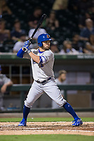 Johnny Field (13) of the Durham Bulls at bat against the Charlotte Knights at BB&T BallPark on May 15, 2017 in Charlotte, North Carolina. The Knights defeated the Bulls 6-4.  (Brian Westerholt/Four Seam Images)