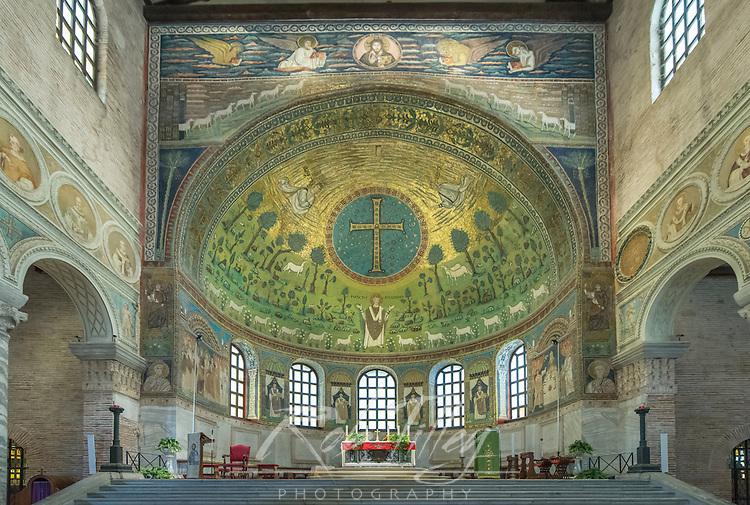 Italy, Ravenna, Basilica of Sant'Apollinare in Classe Interior