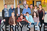 Eileen O'Donoghue, Bedford, Listowel and Tarman Lodge, Rathmore who celebrated her 60th birthday with her family and friends in the Dromhall Hotel on Sunday, front row Noreen O'Leary, Eileen O'Donoghue, Ann Marie Tydings, Jennifer O'Donoghue. Back row: Dan, Michael, John, Matt O'Donoghue, Gerard O'Leary, Mary and Margaret O'Donoghue