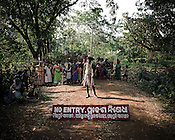 On 2 January 2006, the police in Kalinganagar, Orissa opened fire against a group of tribals protesting against Tata's constructing a steel plant on their lands and not paying them adequate compensation. This tragedy killing 12 persons on the spot shocked the whole nation and that incident has all but paralysed the state government over the land issue. .A 'NO ENTRY' sign has been put up at the entrance of the TATA proposed land. Armed with bows and arrows, the villagers from the Balighato village of Kalinga Nagar area keep a tight vigil at the entrance of their village to guard it against company officials or police coming in to their village.