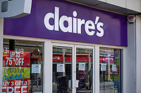 Pictured: A general view of Claire's in Swansea City Centre during the Covid-19 Coronavirus pandemic in Wales, UK, Swansea, Wales, UK. Monday 23 March 2020
