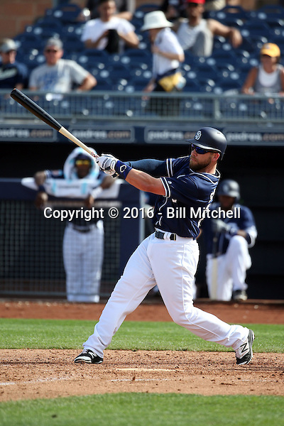 Ryan Schimpf - San Diego Padres 2016 spring training (Bill Mitchell)