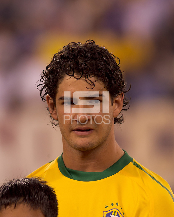Brazil forward Alexandre Pato (9). Brazil  defeated the US men's national team, 2-0, in a friendly at Meadowlands Stadium on August 10, 2010.