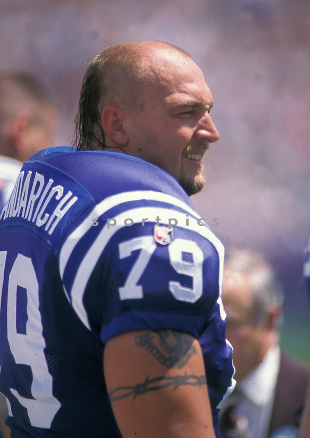 Indianapolis Colts Tony Mandarich (79) sideline portrait.(AP Photo/David Durochik)