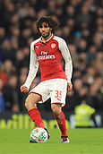 10th January 2018, Stamford Bridge, London, England; Carabao Cup football, semi final, 1st leg, Chelsea versus Arsenal; Mohamed Elneny of Arsenal