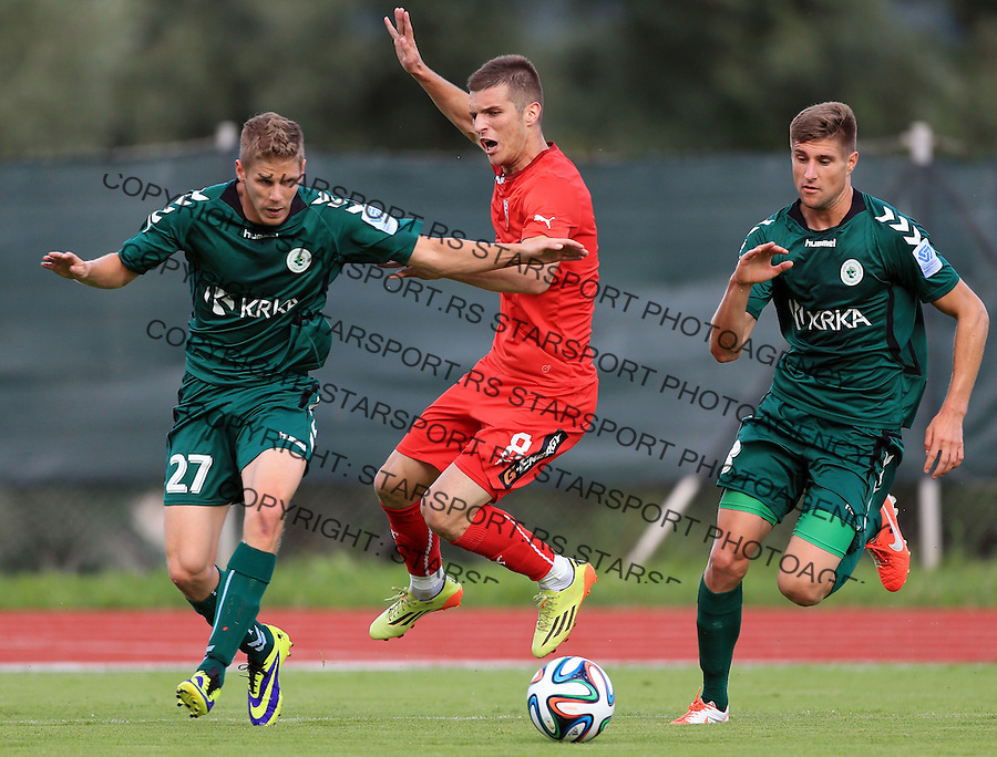 Fudbal season 2013-2014<br /> FK Crvena Zvezda pripreme<br /> Crvena Zvezda v Krka<br /> Darko Lazovic (C)<br /> Novo Mesto, 07.12.2014.<br /> foto: Srdjan Stevanovic/Starsportphoto &copy;
