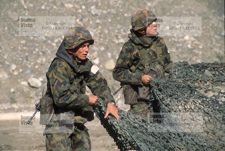 """- Swiss army, training at """"Monte Ceneri"""" artillery school ....- esercito svizzero, addestramento presso la scuola di artiglieria """"Monte Ceneri"""""""