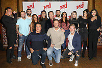 "ADRIEN, QUENTIN, VINCENT, SARAH, AMELIE, STEPHANE JOFFRE-ROMEAS (DIRECTEUR GENERAL DES PROGRAMMES ET DES ANTENNES DU POLE TV NRJ GROUP), CORENTIN, ASTRID, CORALIE, CLAIRE, LAURA, DOMINIQUE DAMIEN REHEL, BENJAMIN MACHET (ANIMATEUR DE FRIENDS TRIP 4), TOM - PHOTOCALL NRJ 12 DES CANDIDATS ""FRIENDS TRIP 4"" AU BUDDHA BAR A PARIS, FRANCE, LE 14/12/2017."