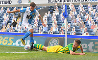 Blackburn Rovers' Adam Armstrong battles for the ball<br /> <br /> Photographer Dave Howarth/CameraSport<br /> <br /> The EFL Sky Bet Championship - Blackburn Rovers v West Bromwich Albion - Saturday 11th July 2020 - Ewood Park - Blackburn <br /> <br /> World Copyright © 2020 CameraSport. All rights reserved. 43 Linden Ave. Countesthorpe. Leicester. England. LE8 5PG - Tel: +44 (0) 116 277 4147 - admin@camerasport.com - www.camerasport.com