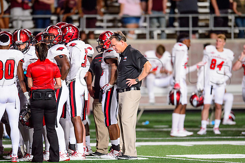 October 1st 2016: Texas, USA; Incarnate Word Cardinals head coach Larry Kennan during the Incarnate Word Cardinals versus Texas State Bobcats game at Jim Wacker Field at Bobcat Stadium, San Marcos, Texas.