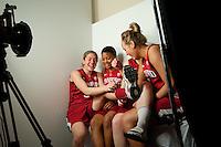 DENVER, CO--Media day at the Pepsi Center for the 2012 NCAA Women's Final Four in Denver, CO.