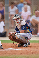 Wade Kelly (34) during the WWBA World Championship at the Roger Dean Complex on October 12, 2019 in Jupiter, Florida.  Wade Kelly attends Massapequa High School in Massapequa, NY and is committed to Coastal Carolina.  (Mike Janes/Four Seam Images)