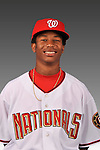 14 March 2008: ..Portrait of Aaron Jackson, Washington Nationals Minor League player at Spring Training Camp 2008..Mandatory Photo Credit: Ed Wolfstein Photo